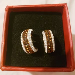 Chocolate stone earrings and ring set